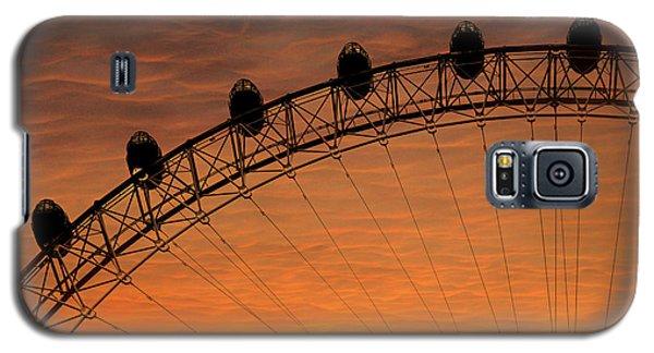 London Eye Sunset Galaxy S5 Case by Martin Newman