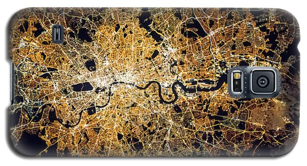 Galaxy S5 Case featuring the photograph London From Space by Delphimages Photo Creations