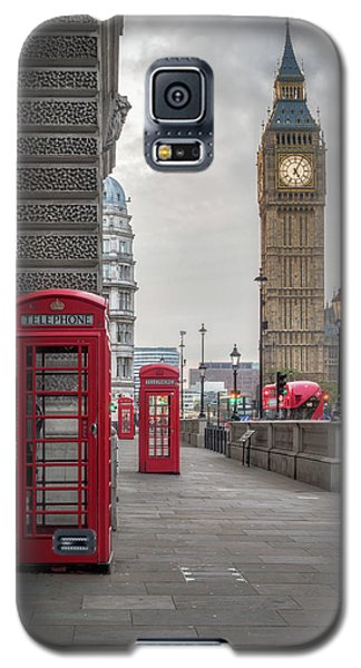 London Phone Booths And Big Ben Galaxy S5 Case