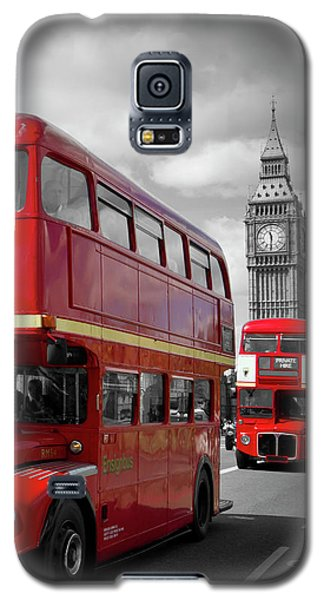 London Red Buses On Westminster Bridge Galaxy S5 Case
