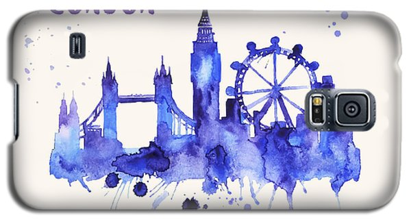 London Skyline Watercolor Poster - Cityscape Painting Artwork Galaxy S5 Case