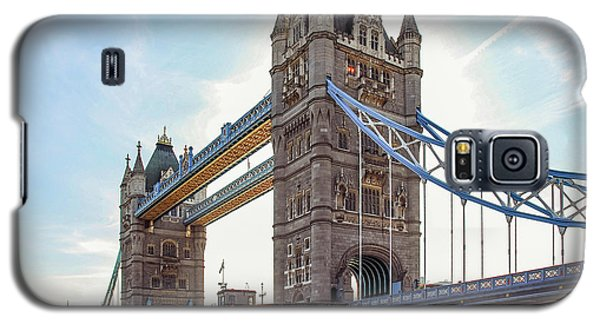 Galaxy S5 Case featuring the photograph London - The Majestic Tower Bridge by Hannes Cmarits