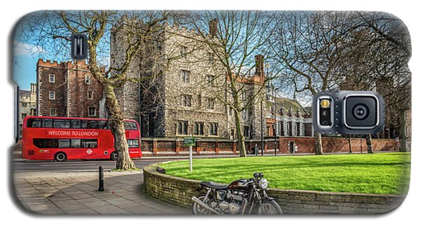 Galaxy S5 Case featuring the photograph London Transport by Adrian Evans