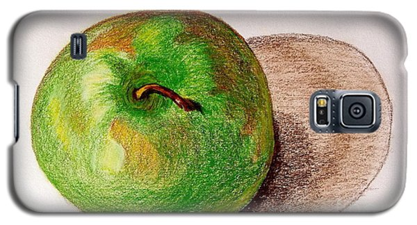 Galaxy S5 Case featuring the drawing Lone Apple by Sheron Petrie