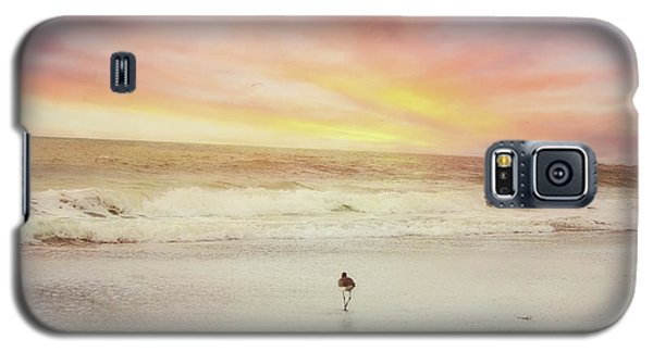 Lone Bird At Sunset Galaxy S5 Case