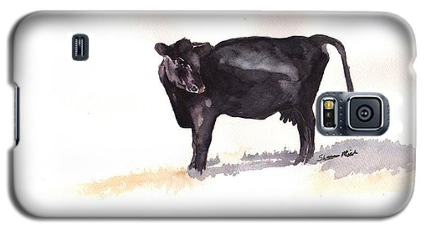 Lone Black Angus Galaxy S5 Case by Sharon Mick