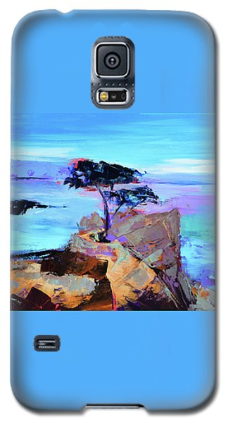 Galaxy S5 Case featuring the painting Lone Cypress by Elise Palmigiani