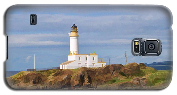Galaxy S5 Case featuring the photograph Lone Lighthouse In Scotland by Roberta Byram