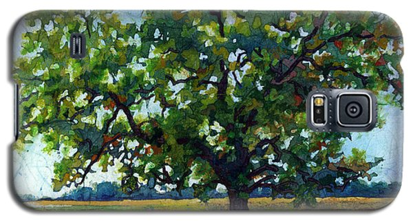 Galaxy S5 Case featuring the painting Lone Oak by Hailey E Herrera