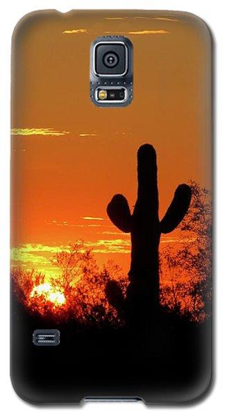 Lone Saguaro Sunrise Galaxy S5 Case