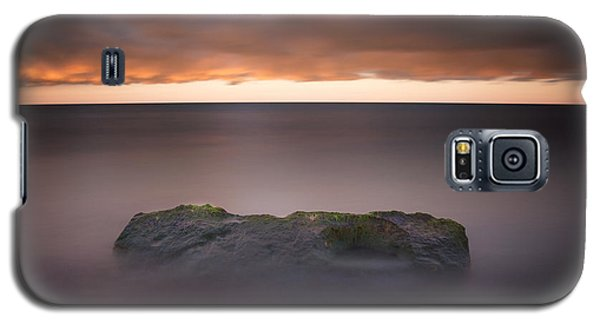 Galaxy S5 Case featuring the photograph Lone Stone At Sunrise by Adam Romanowicz