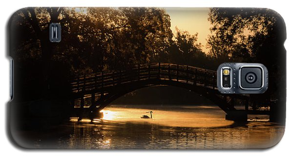 Lone Swan Up For Dawn Galaxy S5 Case