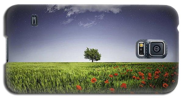 Lone Tree A Poppies Field Galaxy S5 Case