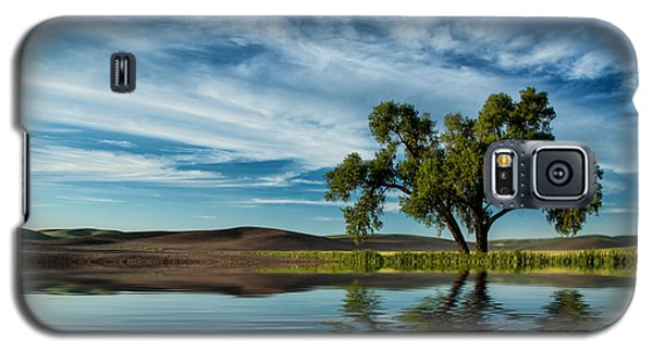 Lone Tree Pond Reflection Galaxy S5 Case
