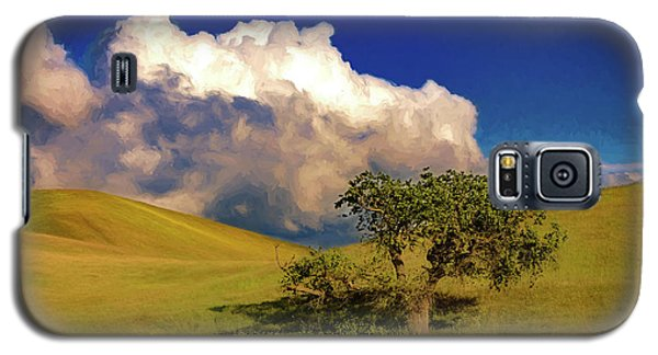 Galaxy S5 Case featuring the photograph Lone Tree With Storm Clouds by John A Rodriguez