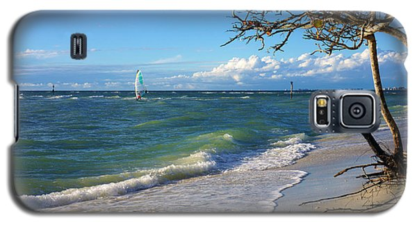 Lone Windsurfer At Wiggins Pass Galaxy S5 Case by Robb Stan