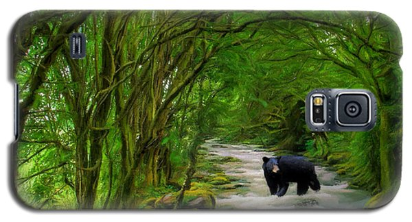 Galaxy S5 Case featuring the painting Lonely Hunter by Steven Richardson