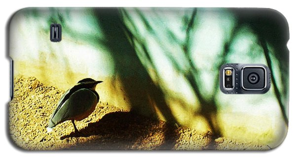 Galaxy S5 Case featuring the photograph Lonely Little Bird by Shawna Rowe