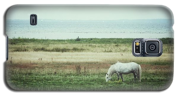 Galaxy S5 Case featuring the photograph Lonely Pony by Karen Stahlros