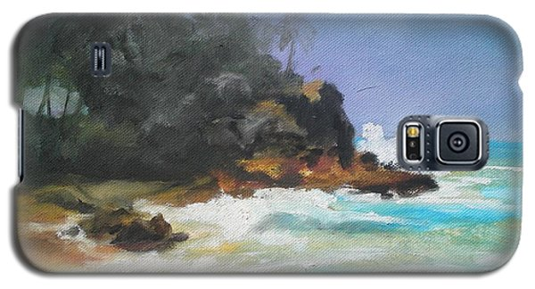 Galaxy S5 Case featuring the painting Lonely Sea by Rushan Ruzaick