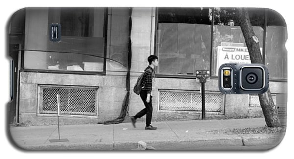 Galaxy S5 Case featuring the photograph Lonely Urban Walk by Valentino Visentini