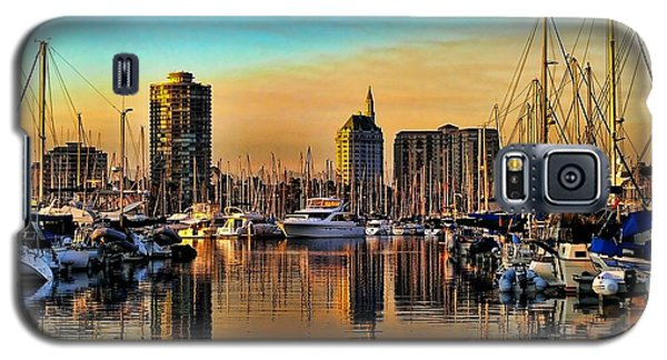 Galaxy S5 Case featuring the photograph Long Beach Harbor by Mariola Bitner