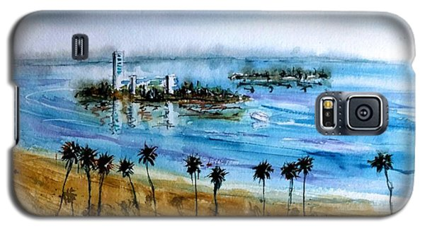Long Beach Oil Islands Before Sunset Galaxy S5 Case