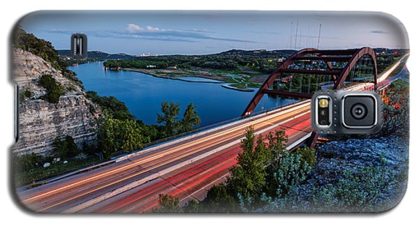Long Exposure View Of Pennybacker Bridge Over Lake Austin At Twilight - Austin Texas Hill Country Galaxy S5 Case