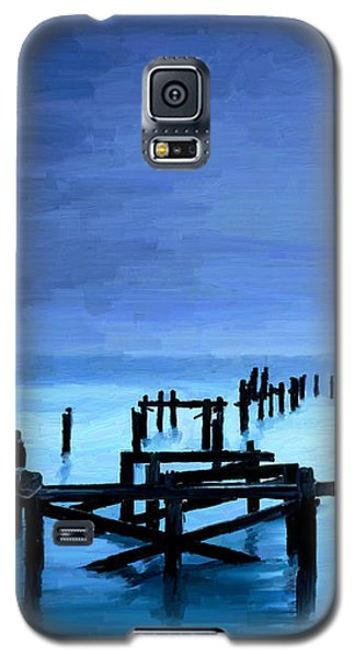 Galaxy S5 Case featuring the painting Long Gone by James Shepherd