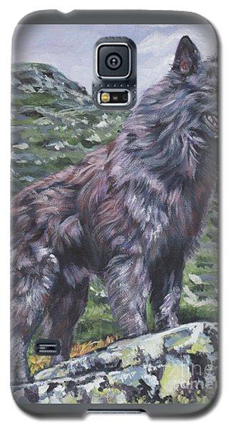 Galaxy S5 Case featuring the painting Long Hair Dutch Shepherd by Lee Ann Shepard
