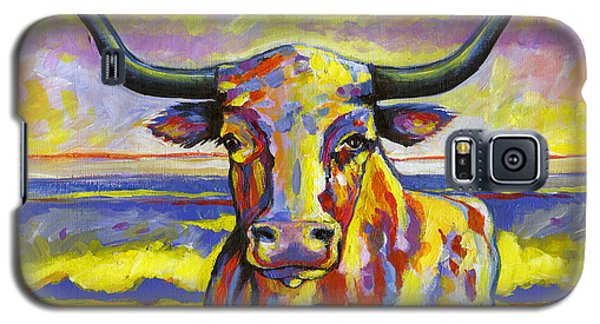 Long Horn At Sunset Galaxy S5 Case
