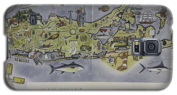 Long Island An Interpretive Cartograph Galaxy S5 Case