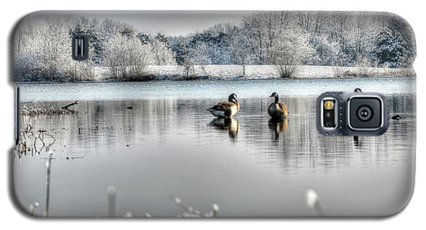 Geese At Long Run Pond Galaxy S5 Case