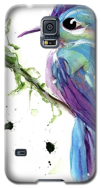 Galaxy S5 Case featuring the painting Long-tailed Sylph by Dawn Derman