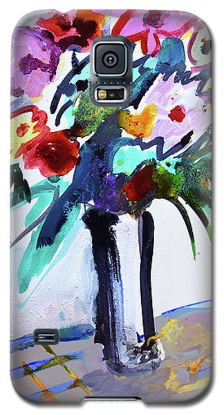 Long Vase Of Red Flowers Galaxy S5 Case