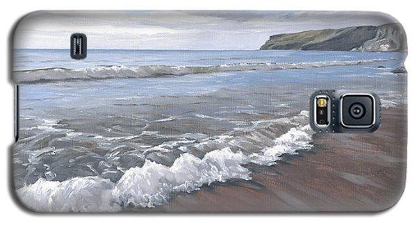 Long Waves At Trebarwith Galaxy S5 Case