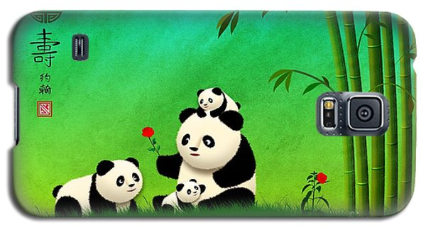 Longevity Panda Family Asian Art Galaxy S5 Case by John Wills