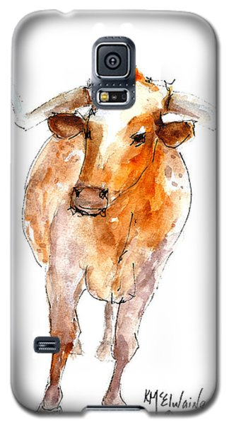 Longhorn 1 Watercolor Painting By Kmcelwaine Galaxy S5 Case