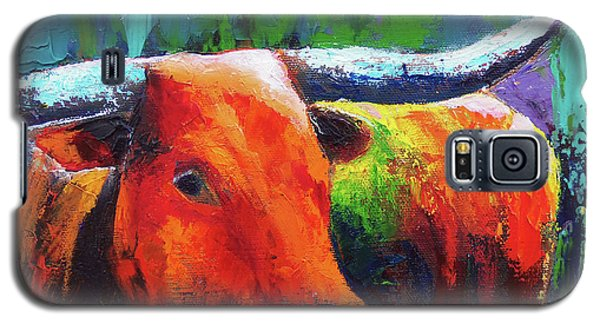 Galaxy S5 Case featuring the painting Longhorn Jewel by Karen Kennedy Chatham