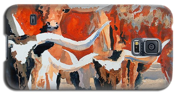 Galaxy S5 Case featuring the painting Longhorn Study #3 by Ron Stephens