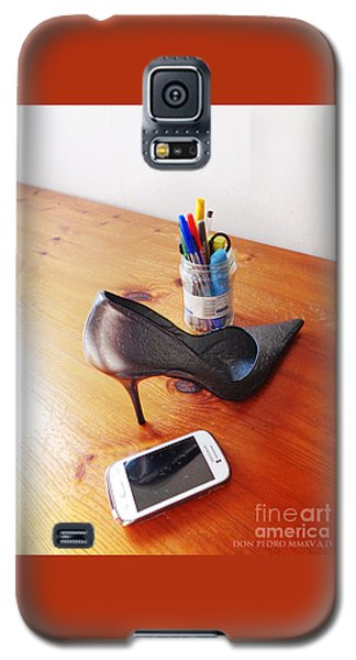 Thinking On Her Galaxy S5 Case by Don Pedro De Gracia