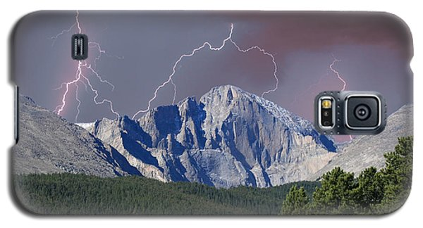 Longs Peak Lightning Storm Fine Art Photography Print Galaxy S5 Case
