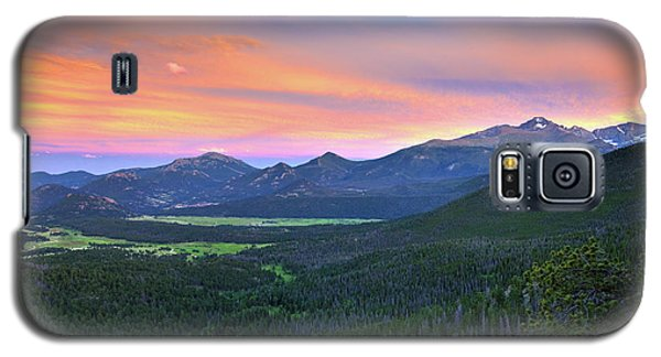 Galaxy S5 Case featuring the photograph Longs Peak Sunset by David Chandler