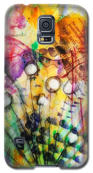 Galaxy S5 Case featuring the mixed media Look Around by Mimulux patricia no No