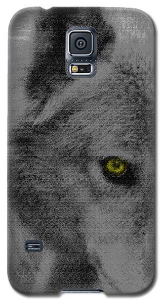 Galaxy S5 Case featuring the mixed media Look Into My Eye by Debra     Vatalaro