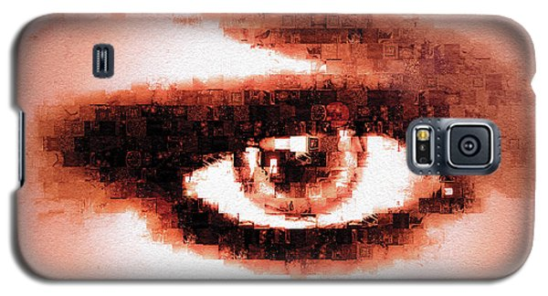 Galaxy S5 Case featuring the digital art Look Into My Eye by Paula Ayers