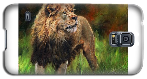 Galaxy S5 Case featuring the painting Look Of The Lion by David Stribbling