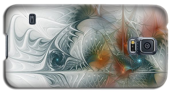 Galaxy S5 Case featuring the digital art Looking Back by Karin Kuhlmann