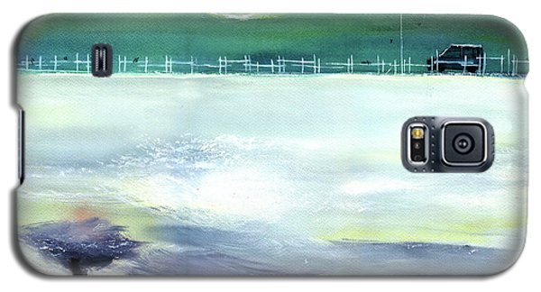Galaxy S5 Case featuring the painting Looking Beyond by Anil Nene