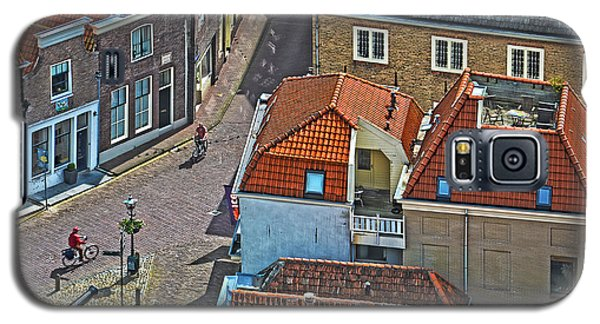 Looking Down From The Church Tower In Brielle Galaxy S5 Case by Frans Blok